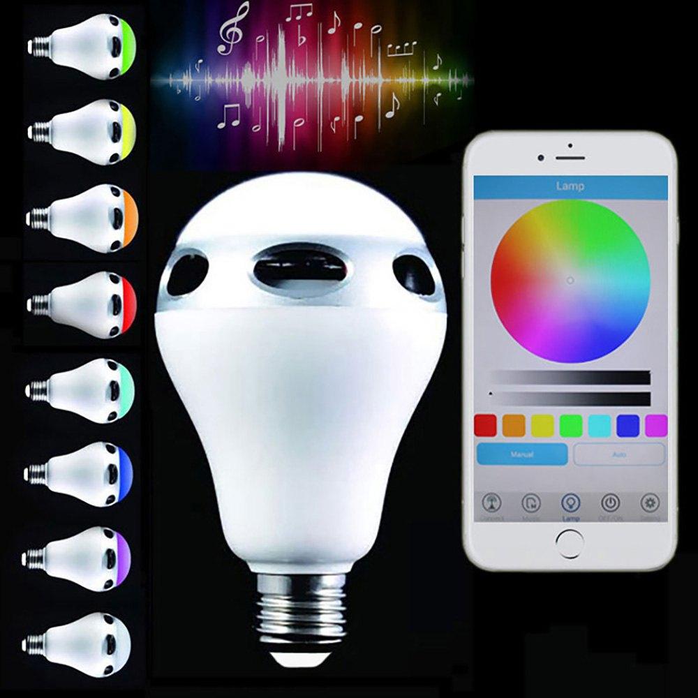Jinnova JH101 E26 / E27 Light Bulb Lamp Intelligent Colorful LED Bluetooth 3.0 Speaker<br><br>Aliexpress