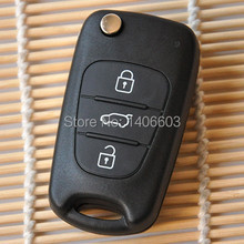 New 3 Buttons Flip Remote Key Shell For Kia K2 K5 HYUNDAI I30 i35 Car Keys Blank Case Cover With Hunydai Logo Free Shipping 1pc