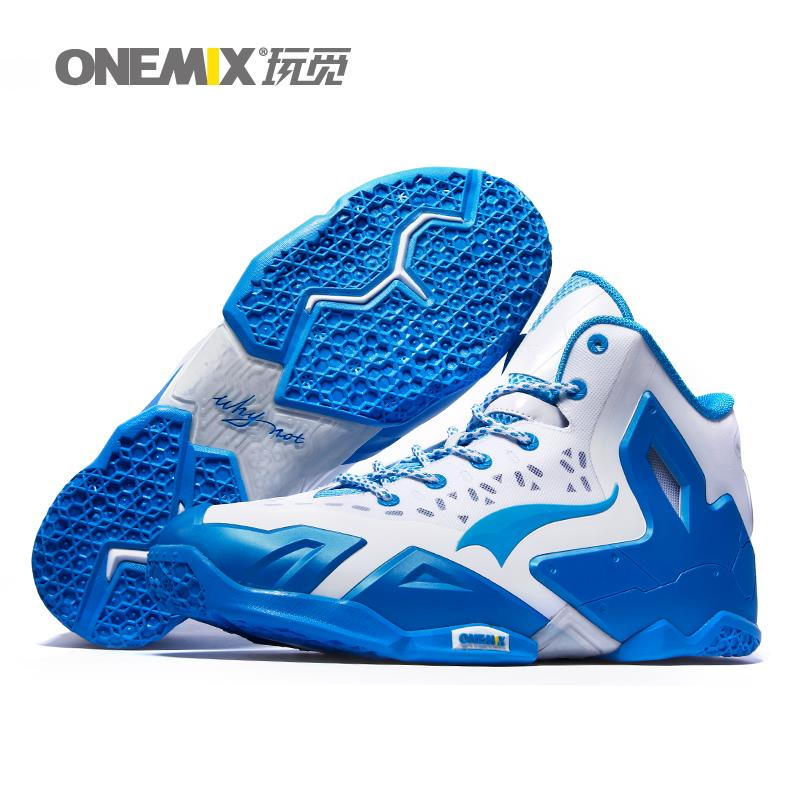 2016 Onemix new arrival fashion mens basketball shoes athletic sport sneakers antislip basketall boots free shipping US7-12