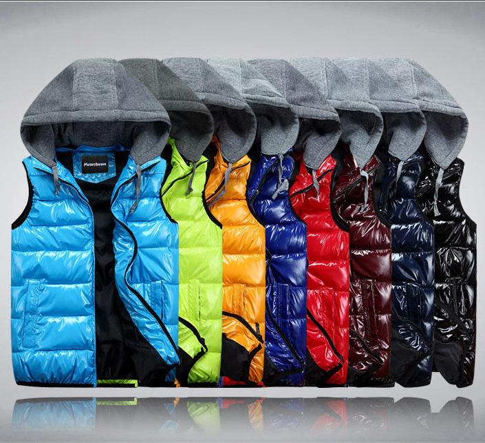 men's sleeveless jacket 2014 fashion fitting pp-cotton vest parkas slim winter clothing waistcoat size M-3XL - Prosperous E-Business store