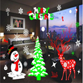 Christmas DIY Snow Town Wall Stickers New Year Window Glass PVC Wall Sticker Home Decal Christmas