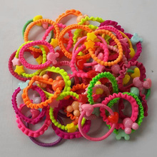 TS Free shipping  Korean children's cartoon candy-colored rubber band headband hair accessories hair ring headwear Children Gift
