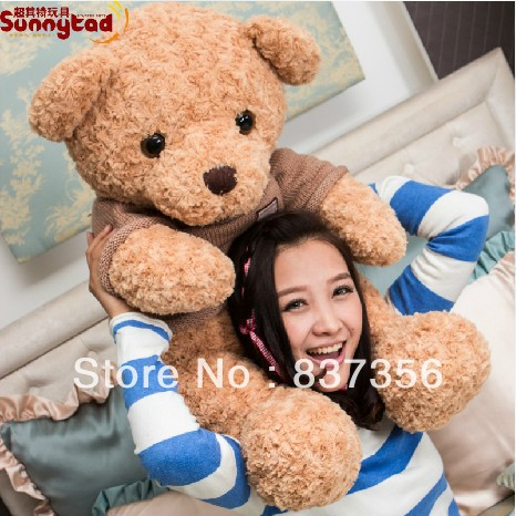 50cm Big Teddy Bear Soft Toys Cute Cartoon Teddy Bear Plush Dolls Big Embrace Bear Doll Stuffed Toys Lovers Birthday Gift(China (Mainland))