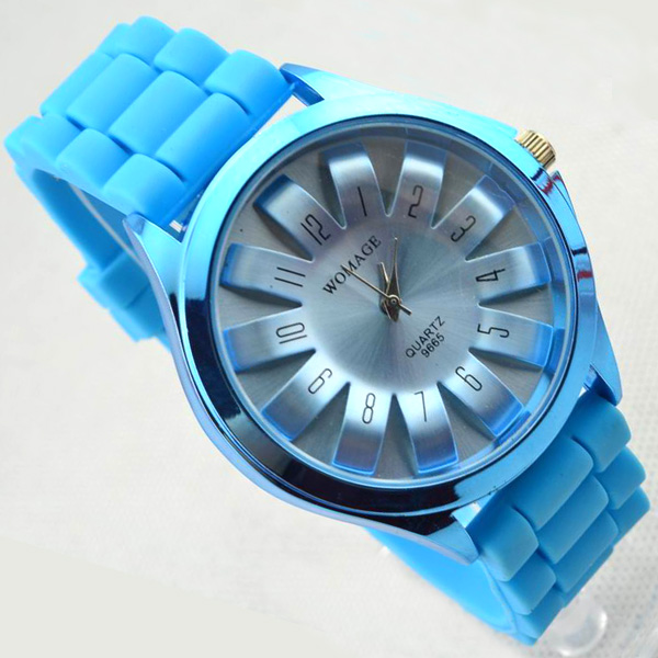 2013 hot Womage Casual Unisex SunFlower Sports Watches Silicone Strap Ladies Quartz watches Analog Wristwatches - SzWatchLive Co.,Ltd store
