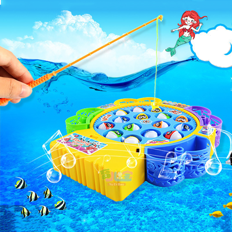 Electronic Magnetic Fishing Toy Fish Magnet Toy With Music Muscial Magnetic Juguetes Fishing Game Electric Plastic Fish Toys(China (Mainland))
