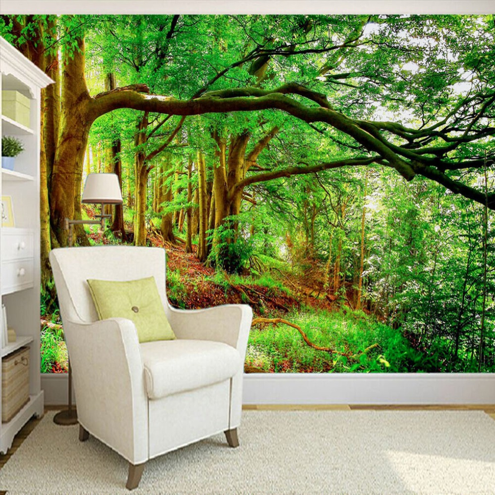 Online get cheap green tree wallpaper for Cheap green wallpaper