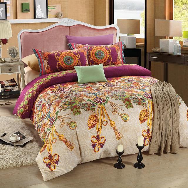 Elegant Bedding Set Queen King Size Bohemian Style Duvet