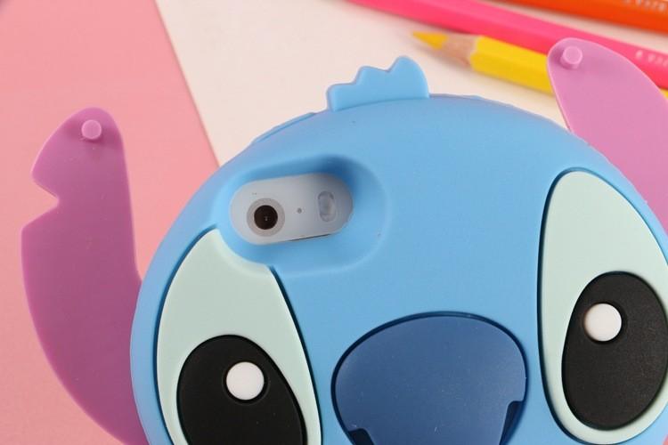 Anime Cartoon Stich Silicon 3D Cute Silicone Back Cover Case Lilo Stitch Case For iPhone 6 6s 4.7 6 plus 6s plus Phone Cover