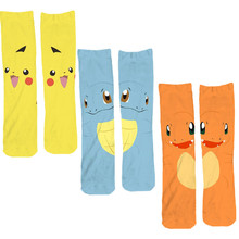 Buy 2016 Winter Pokemon Pikachu Fashion Cartoon Sock Women's Fashion Cotton Socks Cute Stocks Squirtle for $2.08 in AliExpress store