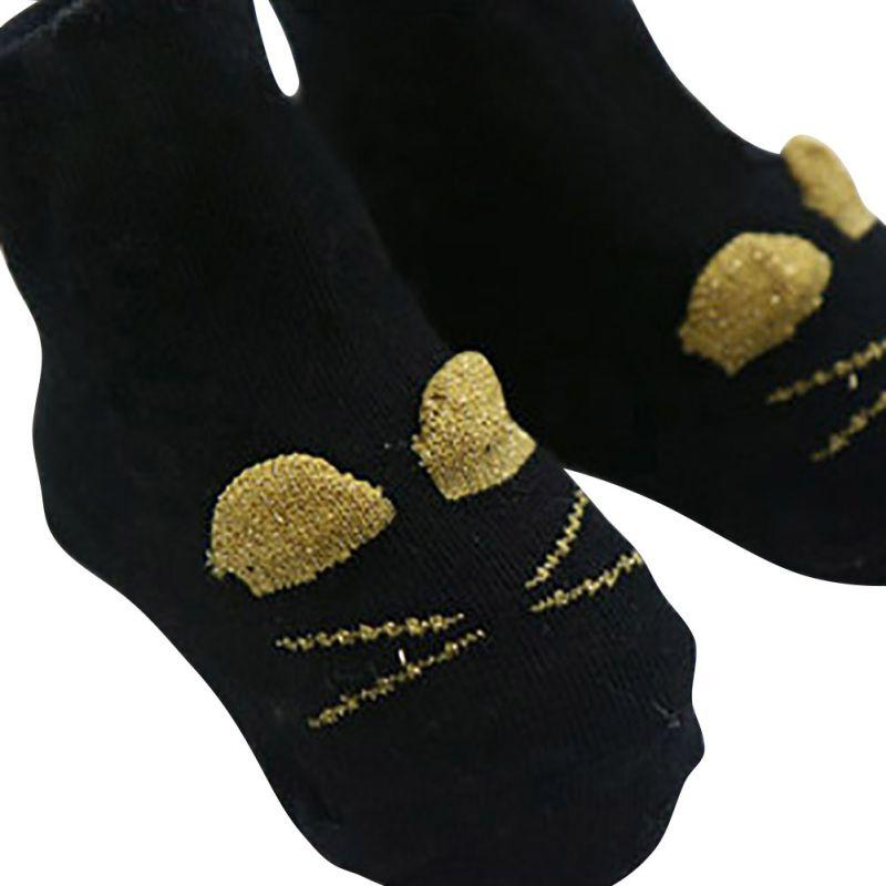 Leg Warmer Infant Girl Boy Baby Socks Cat Cotton Anti-slip Knee High Socks Hot Selling