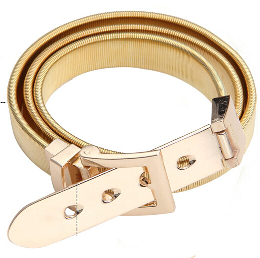 HOT Selling new fashion punk big buckle alloy gold silver elasticity belt belly chain jewelry gifts women girl - ABC Mall store