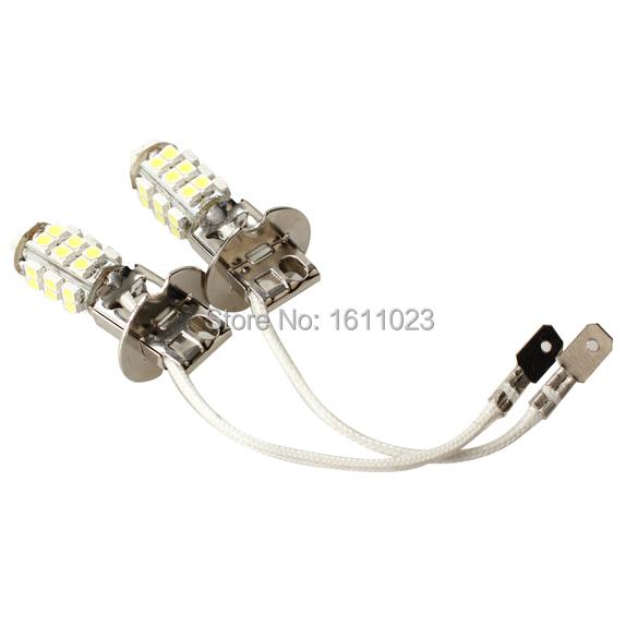 2 Pcs Fog Lights Constant Current H3 Car LED Light White 28 Lamp E2shopping(China (Mainland))