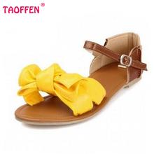 women sandals bohemia bowknot ankle wrap flat sandals brand fashion ladies footwear shoes large size 31-45 P23538(China (Mainland))