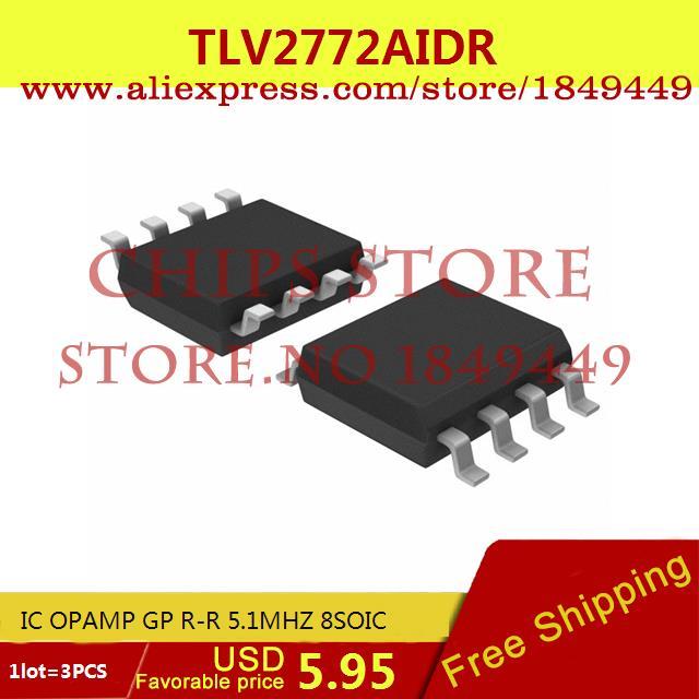 Бесплатная Доставка IC Интегральной Схемы TLV2772AIDR IC ОПЕРАЦИОННЫЕ УСИЛИТЕЛИ GP RR 5.1 МГЦ 8 SOIC 2772 TLV2772 3 ШТ. бур hammer sds 4 x 160