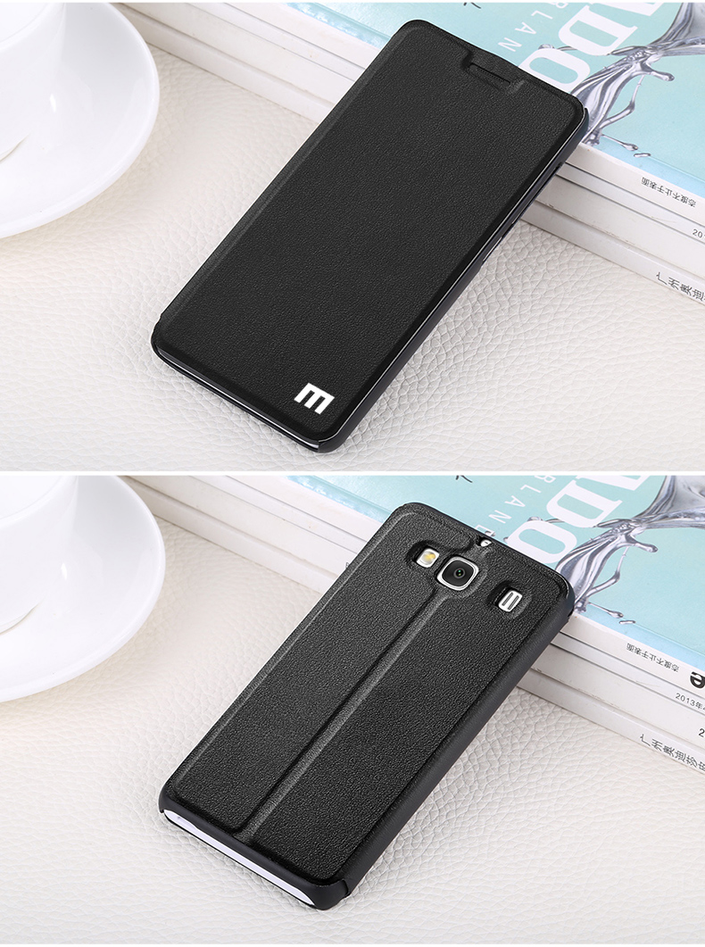 For Xiaomi Redmi 2 Ultra Thin Luxury Leather Back Cover Protective Accessory For Xiaomi Redmi 2a (4.7″ inch) Mobile Phone Case