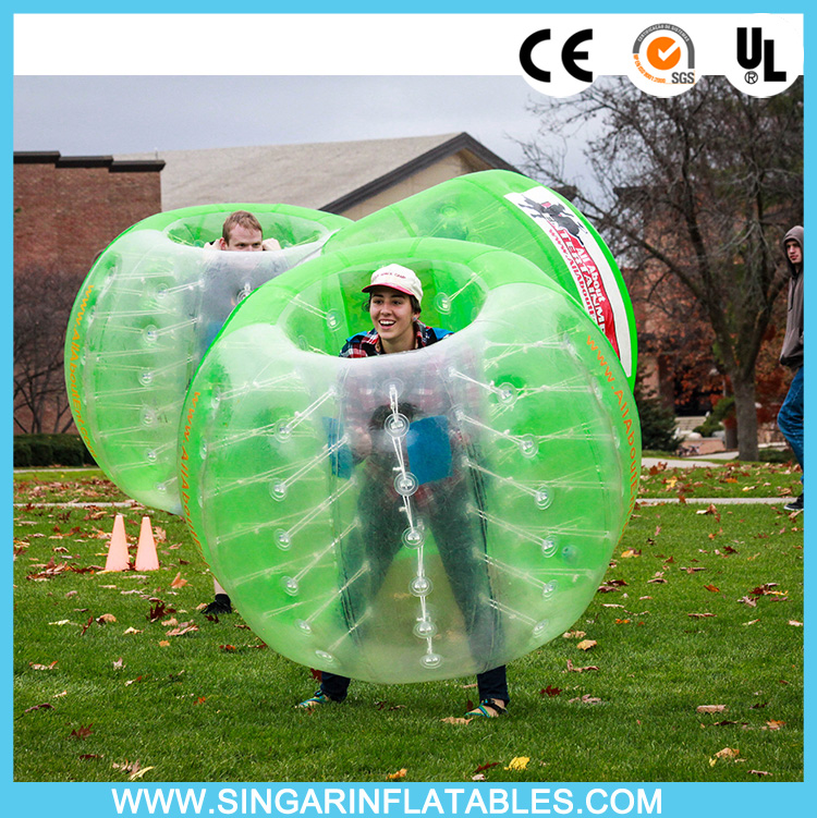 Free shipping 1.0mm TPU 1.5m diameter bumper ballz,inflatable bouncy ball,bubble soccer for adults(China (Mainland))