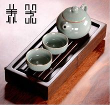 Ruyao teaset kungfu teaset/travel portable drinkware ceramic purple sands teaset with tea tray,1teapot+2teacup+tea tray,201ml