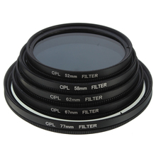 Hot Sale Slim CPL Circular Polarizing Polarizer Lens Filter for Canon for Nikon Camera Black 52mm 58mm 62mm 67mm 77mm