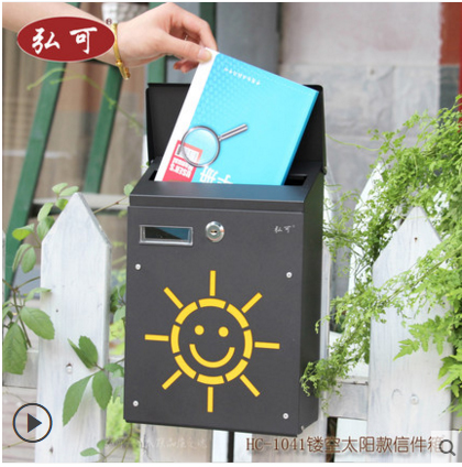 Antique Wall Mounted Zinc Coated Mailbox Postbox Mail Box Wall Mount Metal Post Letters Box Garden Yard Patio Lawn Outdoor Art(China (Mainland))