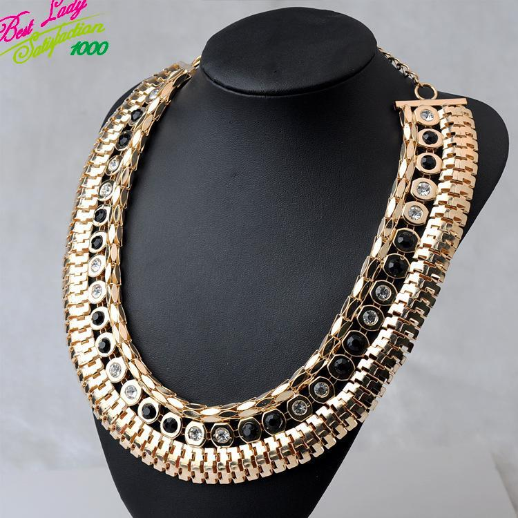 2014 New Arrival Fashion Statement Mental Brand Necklace Pendants Vintage Clain Exaggerated Choker Statement Necklace 8932(China (Mainland))