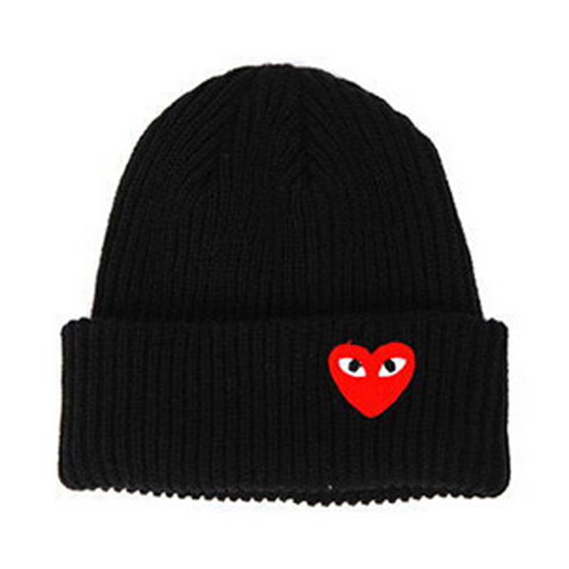 New Winter Brand Caps Red Heart with Eyes Cartoon Knitted Womens Hats Touca Comfortable Gorro Fashion Gift Skullies Student Caps(China (Mainland))
