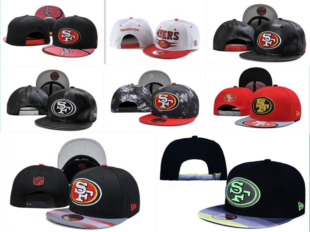 NO-1 Free fast shipping Best Quality 30 Style San Francisco 49ers Snapbacks SF 49ers Cap HATS(China (Mainland))