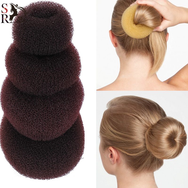 1pc Plate Hair Donut Bun Heart Maker Magic Foam Sponge