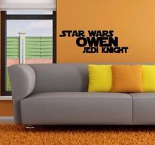 STAR WARS Custom Name Jedi Knight Kid Room Decor Vinyl Wall Art Decal Sticker  7x22inch