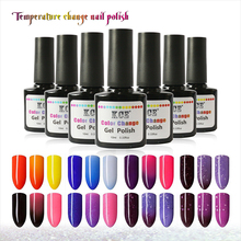 2016 NEW 18 Colors Fashion Women Free Shipping Nail Polish Temperature Change Nail Color UV Gel for Nail Soak Off Gel Polish(China (Mainland))