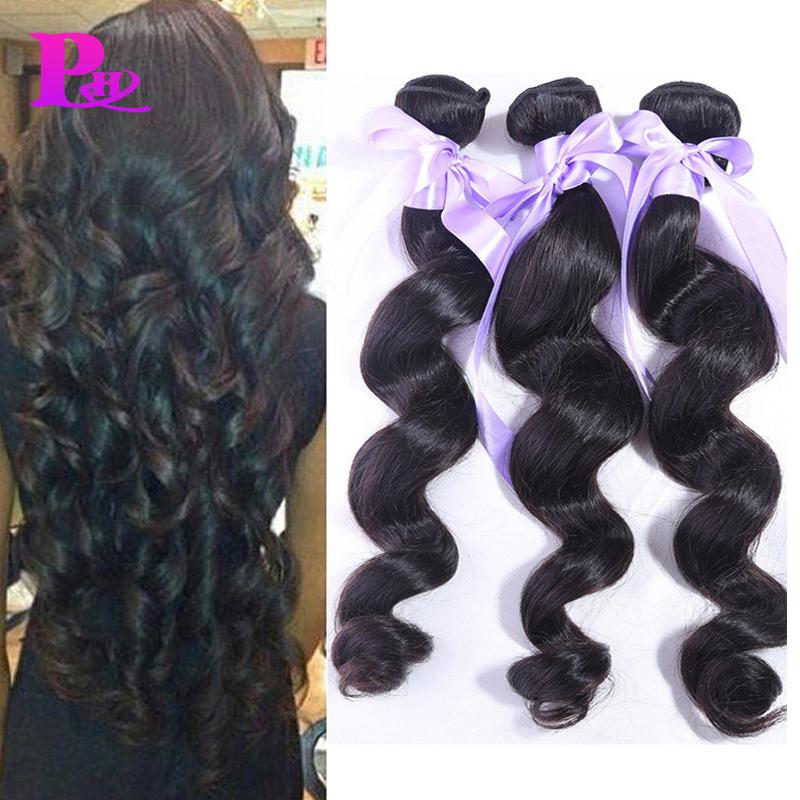 Brazilian Loose Wave 3/4pcs Lot #1B Remy Human Hair Weave Bundles Unprocessed Brazilian Loose Wave virgin Hair Modern Show Hair<br><br>Aliexpress