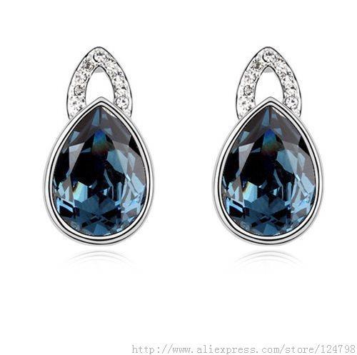 2015 Rushed Christmas Earrings, December Birthstone, Bridal Jewelry Crystal Drops Eternal Jewelry, Women Earrings(China (Mainland))