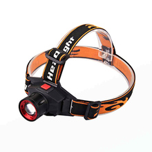LED Headlamp Cree Q5 Waterproof 1000lm Built in Lithium Battery Rechargeable Head lamps 3 Modes Zoomable