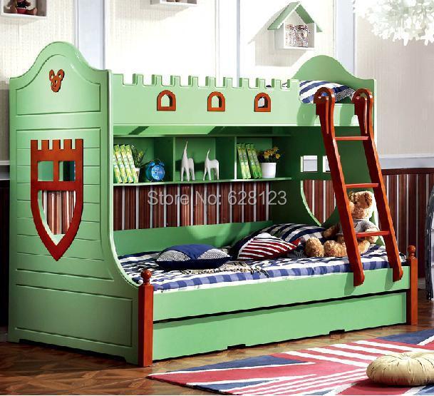 Crbd007 Children Bunk Bed With Mediterranean Furniture Store Content Drawer American Children