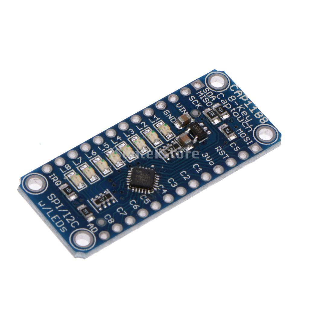 CAP1188 8 Key Capacitive Cap Switch Touch Sensor Module for Arduino Blue