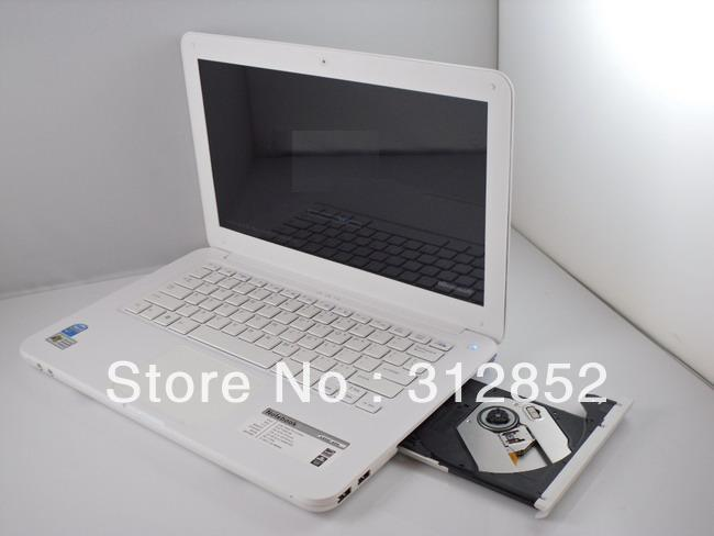 "Free shipping 13.3"" laptop with DVD-RW Intel ATOM Dual core D2500 2GB 320GB WIFI CAMERA UMPC Notebook(China (Mainland))"