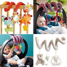 Bonito espiral atividade Stroller assento de carro berço torno pendurado Babyplay viagem brinquedos bebê recém-nascido chocalhos brinquedos infantis 2015 nova chegada