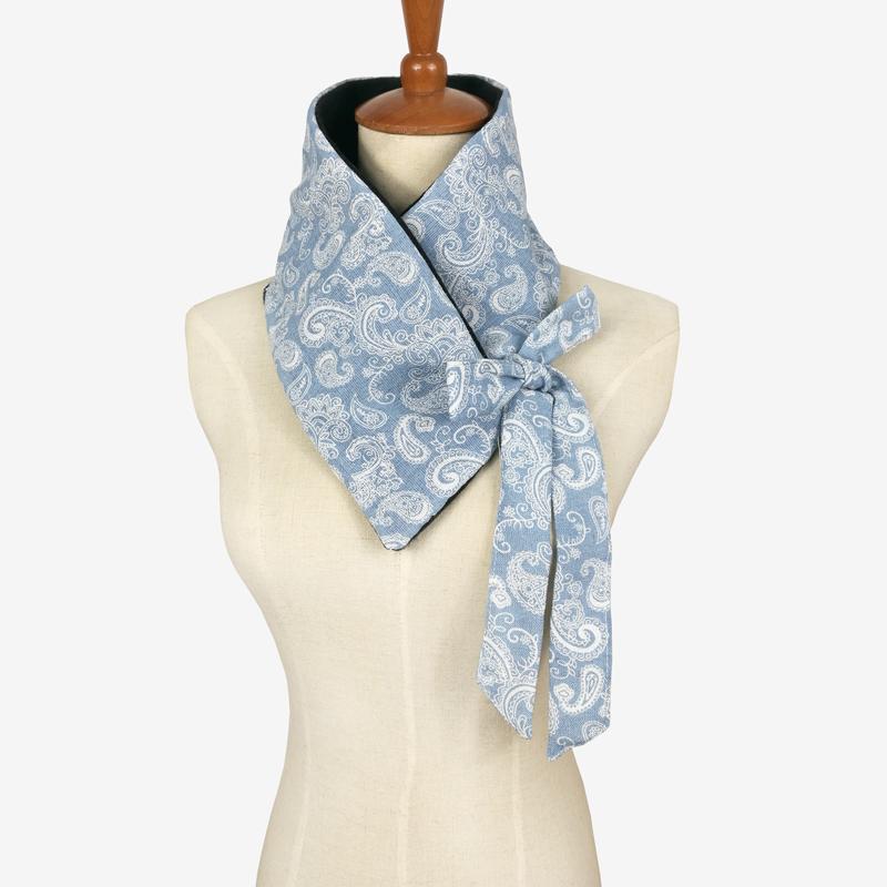 Leo anvi design fashion Navy Paisley Flower Bow scarves Trendy scarf for women tie Bandana(China (Mainland))