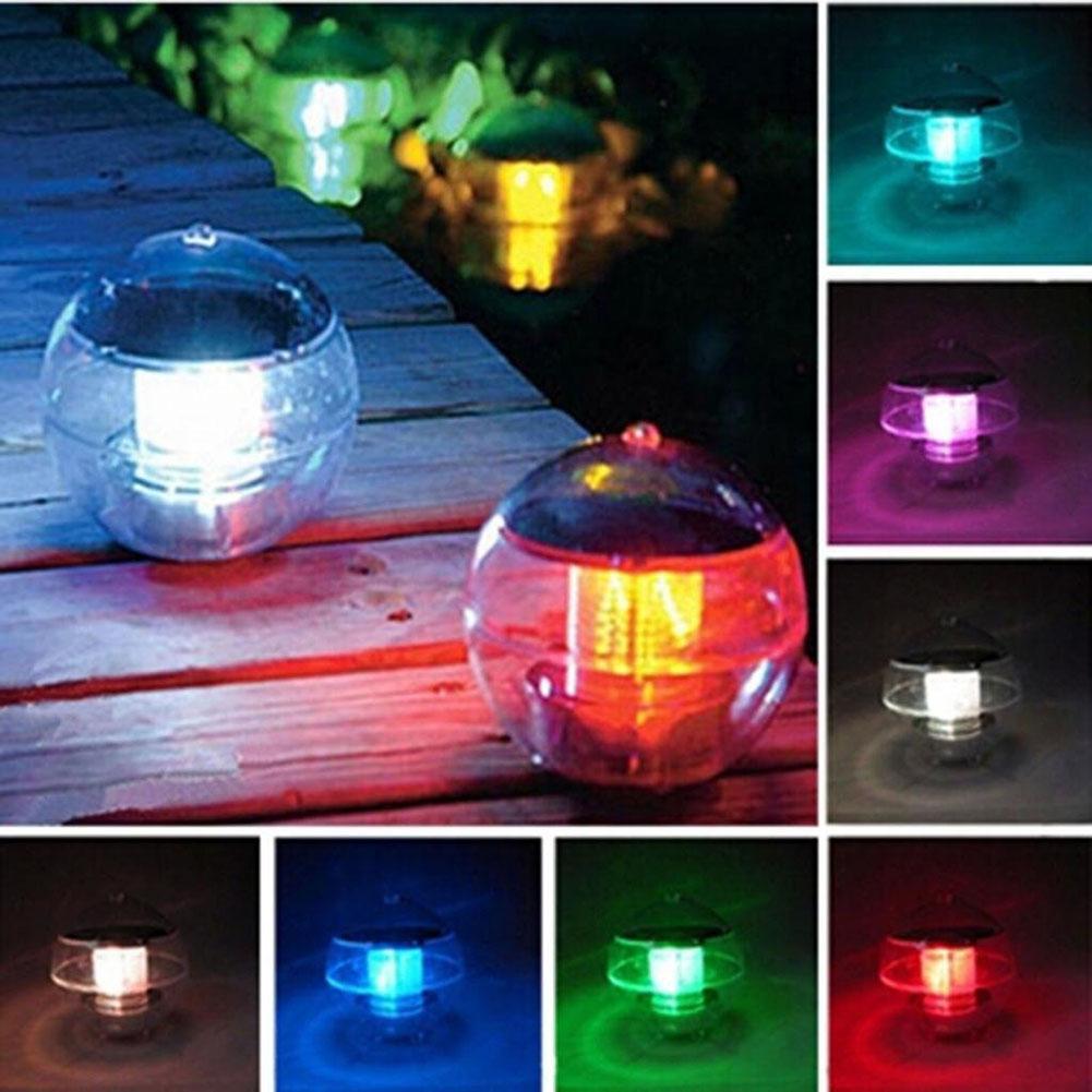LED Solar Lantern Water Ball Light Colorful LED Floating Yard Pond Garden Pool Night Light(China (Mainland))