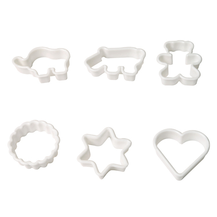 Гаджет  6pcs Cookie Cutter Set for Baking Pastry Tools Cookware, Bear Elephant Hippo Heart Shape Biscuit Pastry Cutter Forms for Cookies None Дом и Сад