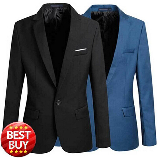 2015 New Arrival Suit Jacket For Men Spring Autumn Fashion Men Black One Button Slim Fit Blazer Jacket Blazer Masculino Xxxl(China (Mainland))