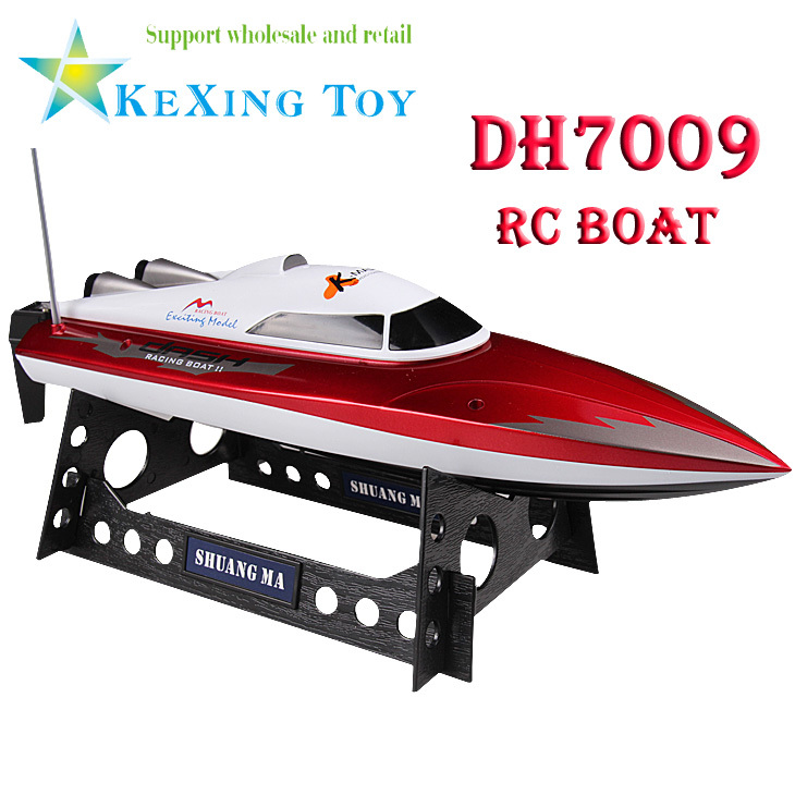 Best Selling / double horse DH 7009 rc boat, 35CM infinitely variable speed / high speed boats, children's water toy boat(China (Mainland))