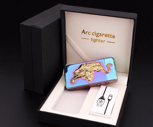 ถูก 1ชิ้นUsbค่าใช้จ่ายarcเบาเป็นของขวัญวันเกิดชายบุคลิกภาพบุหรี่อิเล็กทรอนิกส์windproofเบาสำหรับบุหรี่