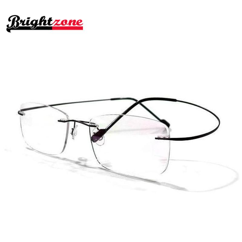 Rimless Glasses No Screws : 8 colors rimless non screw memory titanium hingeless ...