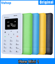 Portable iNew Mini 1 Cheaper Mobile Phone 0.96 inch MTK6261D Single SIM 320mAh Battery Smartphone Support GSM Network