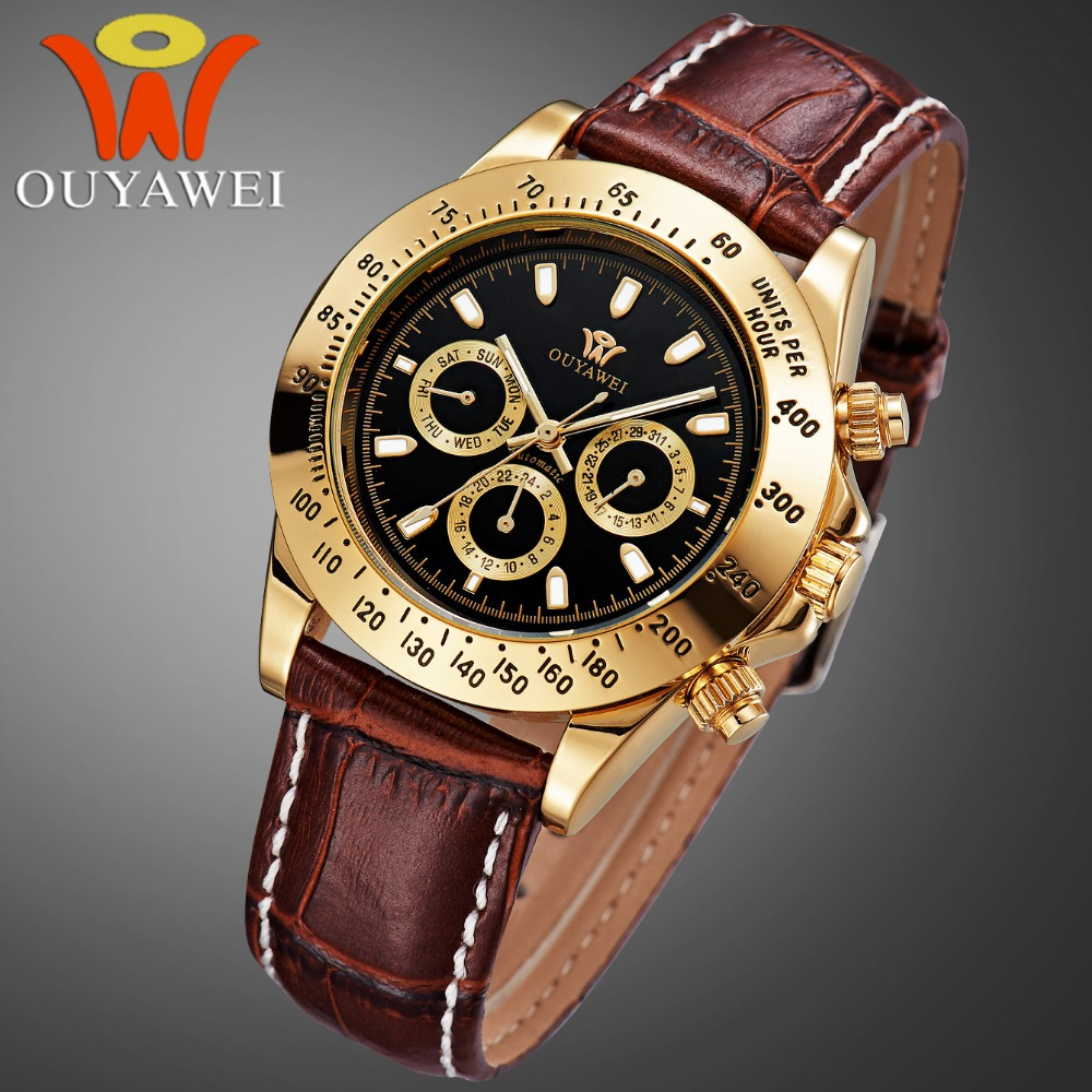 OUYAWEI Top Brand Luxury Watch Men 10 Water Resistant wristwatches,automatic-self-wind movement military weide watch(China (Mainland))