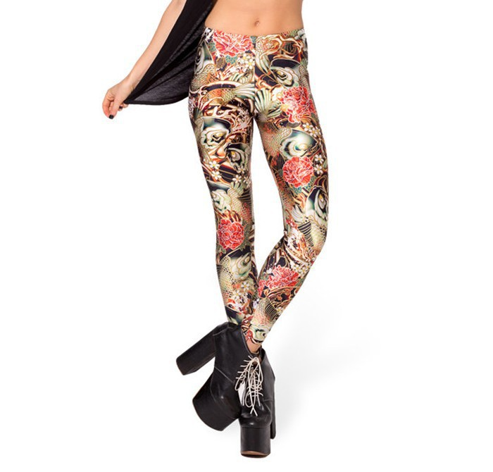 Hot novelty new 2016 Female Women Leggings Star Digital Printing Legin pencil pants factory sell leging boothose gaiters capris