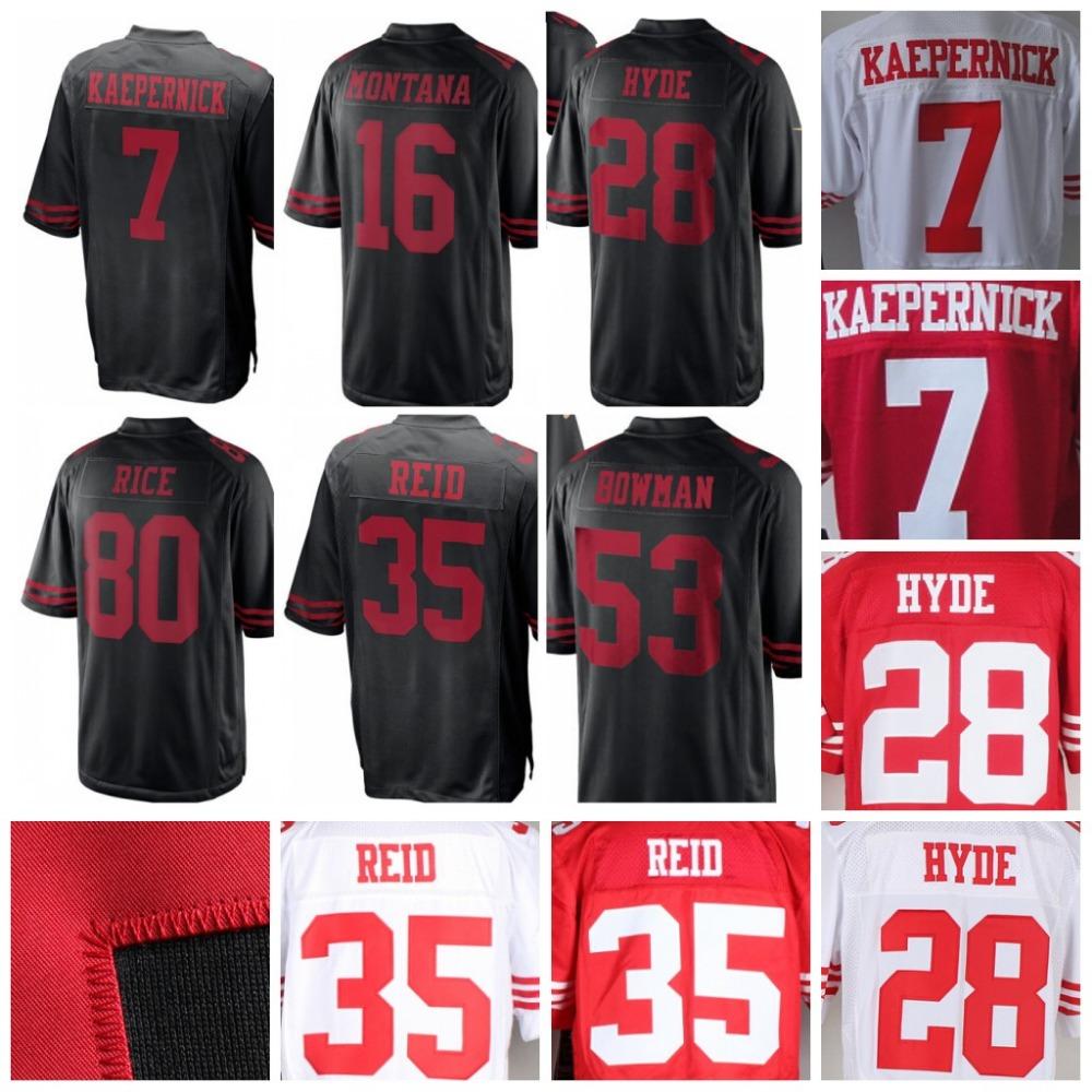 NFL Jerseys NFL - San Francisco 49ers Black Jerseys Promotion-Shop for Promotional ...