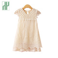 Summer dress girl New evening girls lace dress Children Hollow Out Baby girls dresses for party