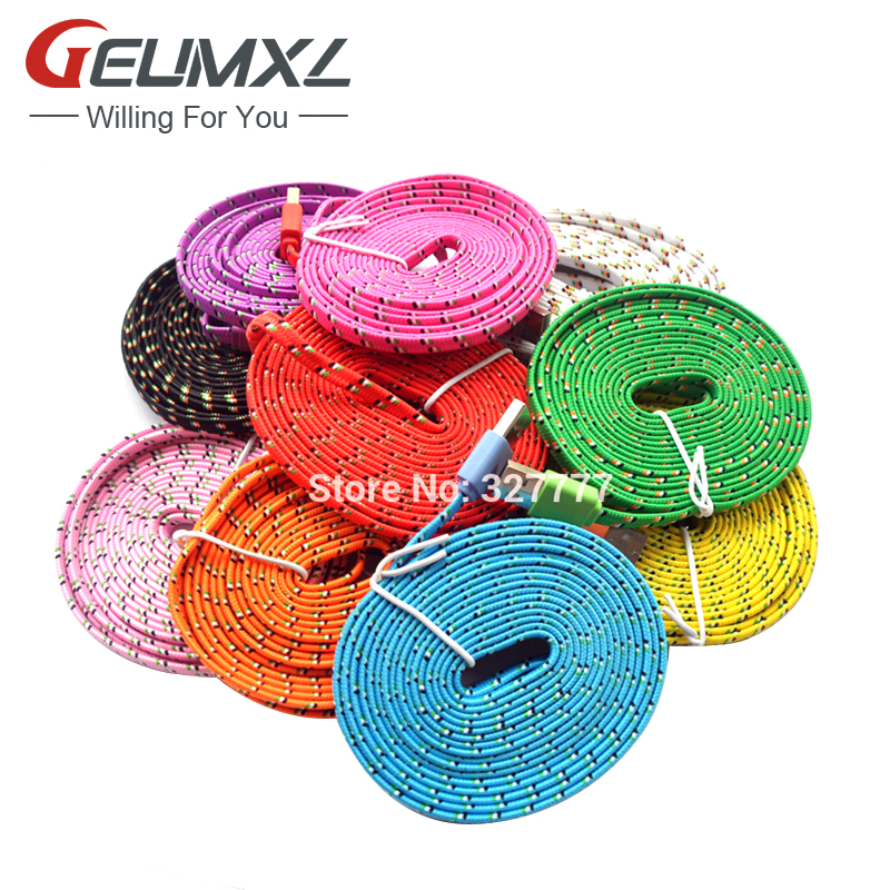 1M/2M/3M 8Pin USB Adapter Charger Fabric Braided Nylon Woven Data Sync Charging Cable for iPhone 6 6S 6Plus 5/5C/5S iPad Air SE(China (Mainland))
