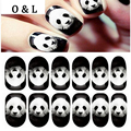 1pcs Animal Designed Glitter Nail Decals Full Cover Adhesive Tiger Cat Nail Art Stickers Glow in